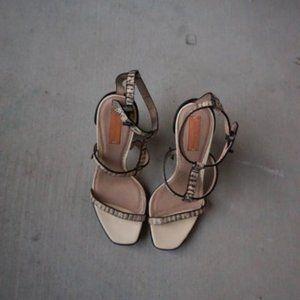 Reed Krakoff snakeprint strappy heels